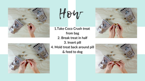 how to use treats as pill poppers