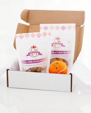 Celebration Bash 2-Pack Bundle | Peanut Butter + Party Colored Coconut - Lord Jameson Organic Dog Treats