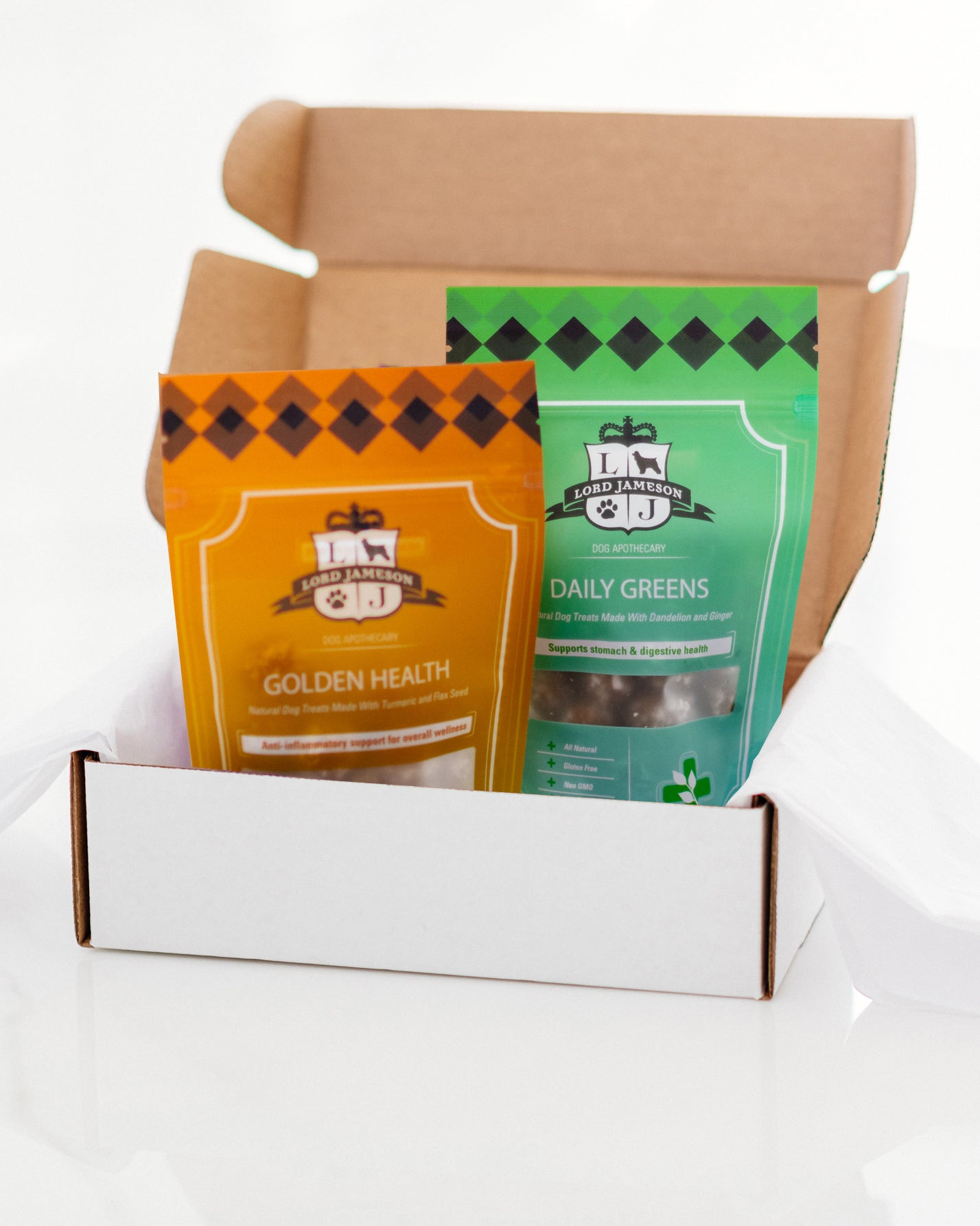 Wellness Bundle | Daily Greens & Golden Health | 2-Pack - Lord Jameson Organic Dog Treats