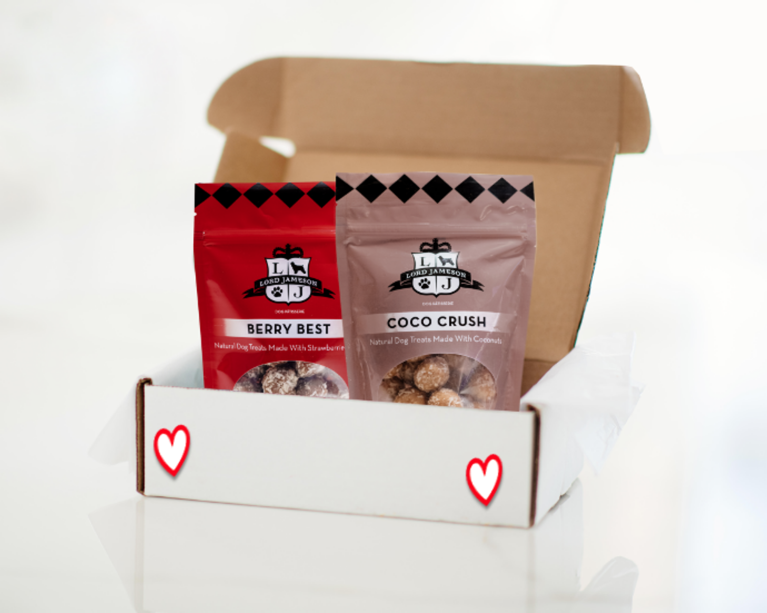 Valentine's Day Dog Treats | Berry Best & Coco Crush - 2 Pack - Lord Jameson Organic Dog Treats