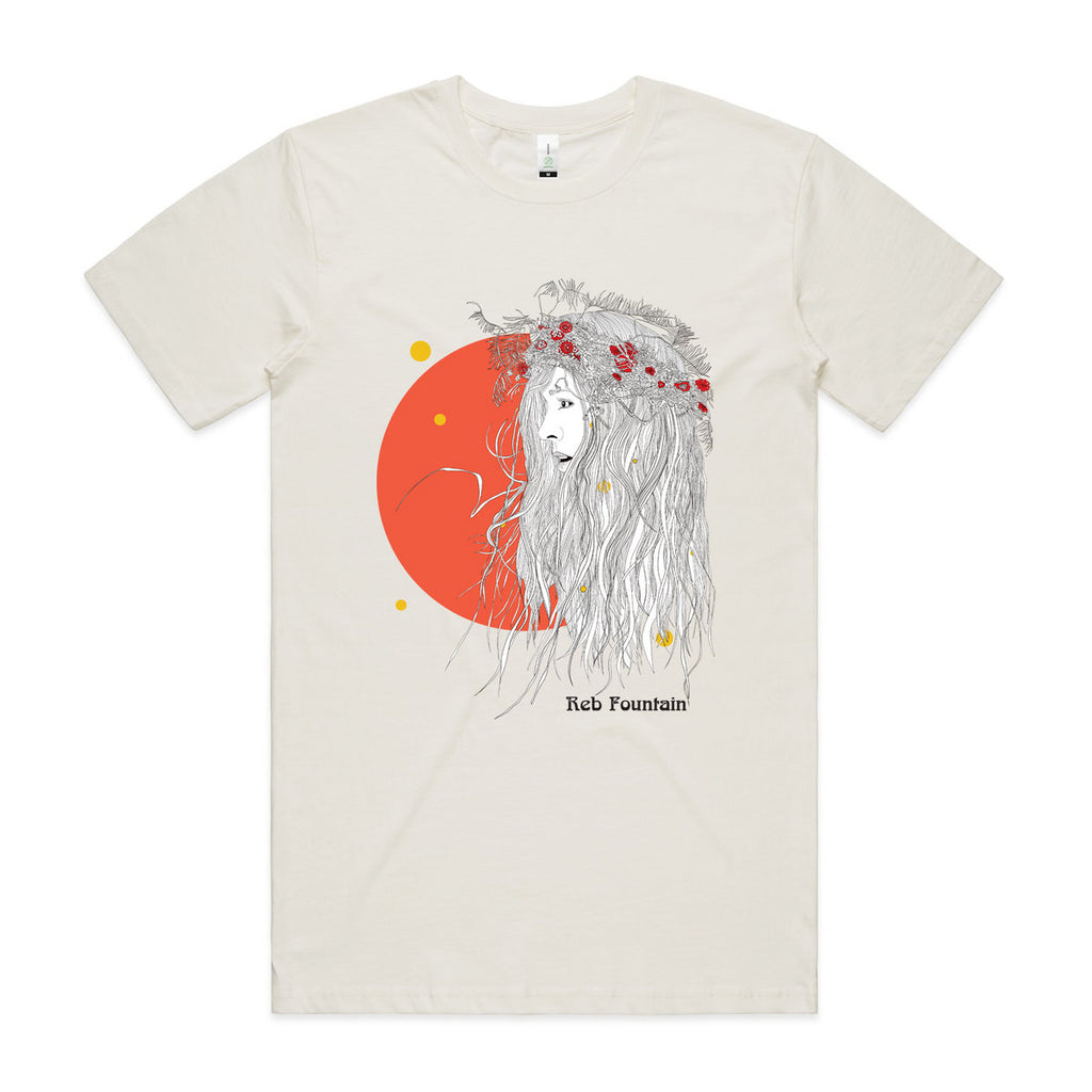 Reb Fountain Organic Orange Moon T-Shirt