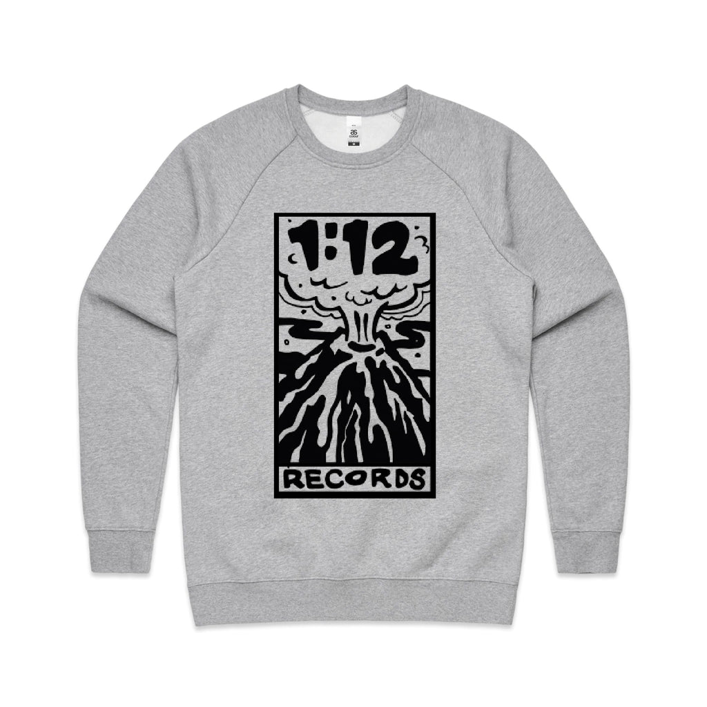 1:12 Records Crew Neck Jumper (Grey)