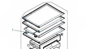 MITSUBISHI ELEC FRIDGE 2 PART SHELF-FRONT HALF