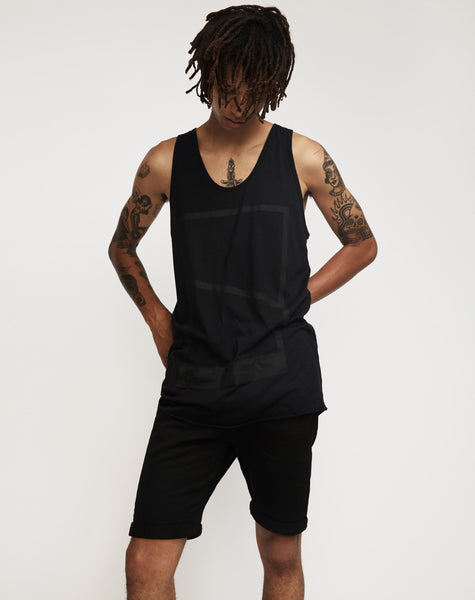 SURROUNDED BY GHOSTS - IRANITE SINGLET - BLACK