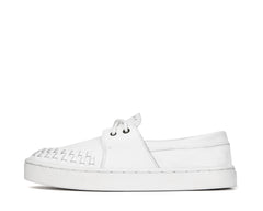 Womens Bluto - White weave - Sneaker sole