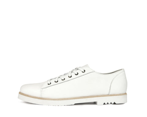Flint - White - Rubber Heel