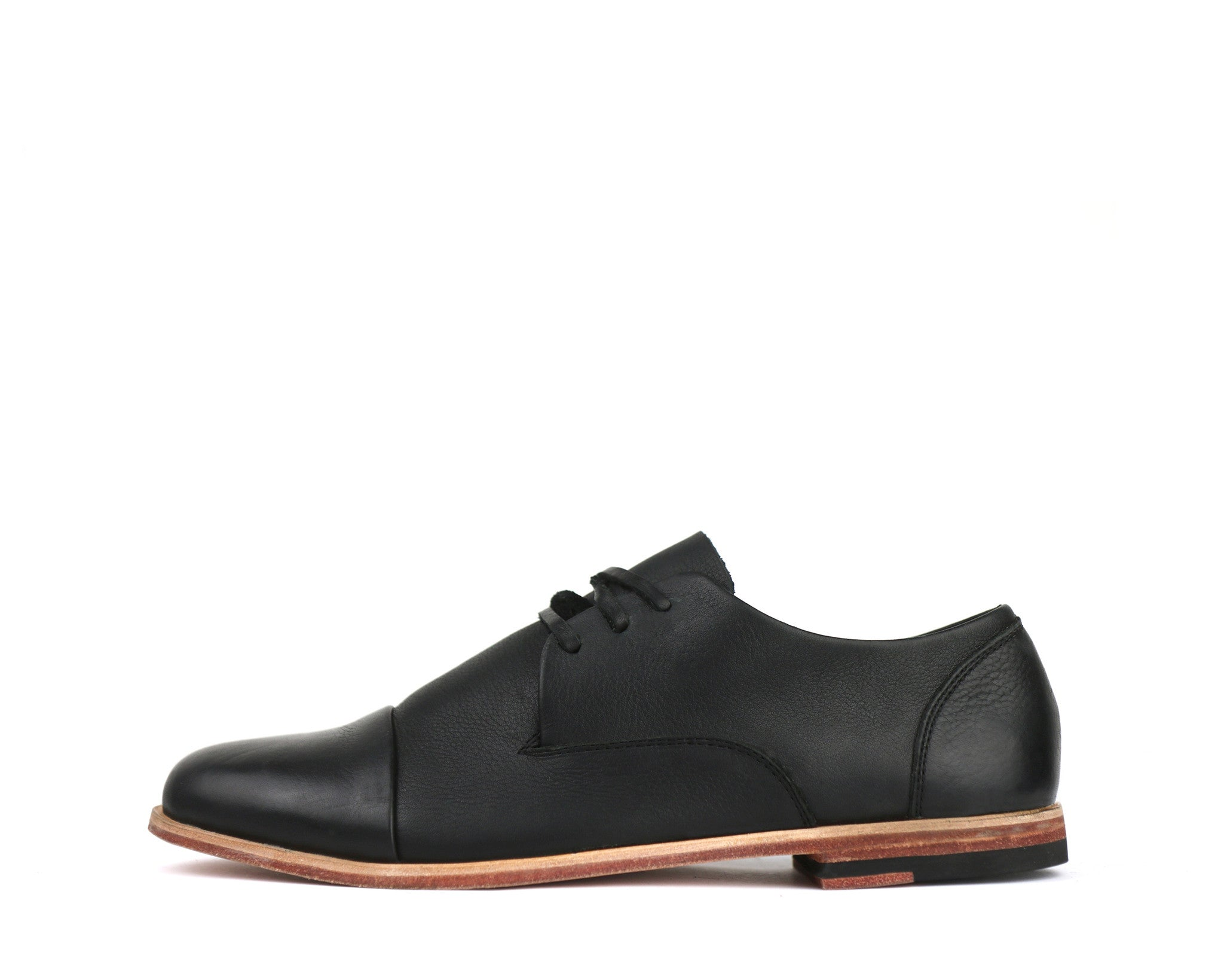 Men's Footwear: Heathen - Black - Leather Sole | Mere