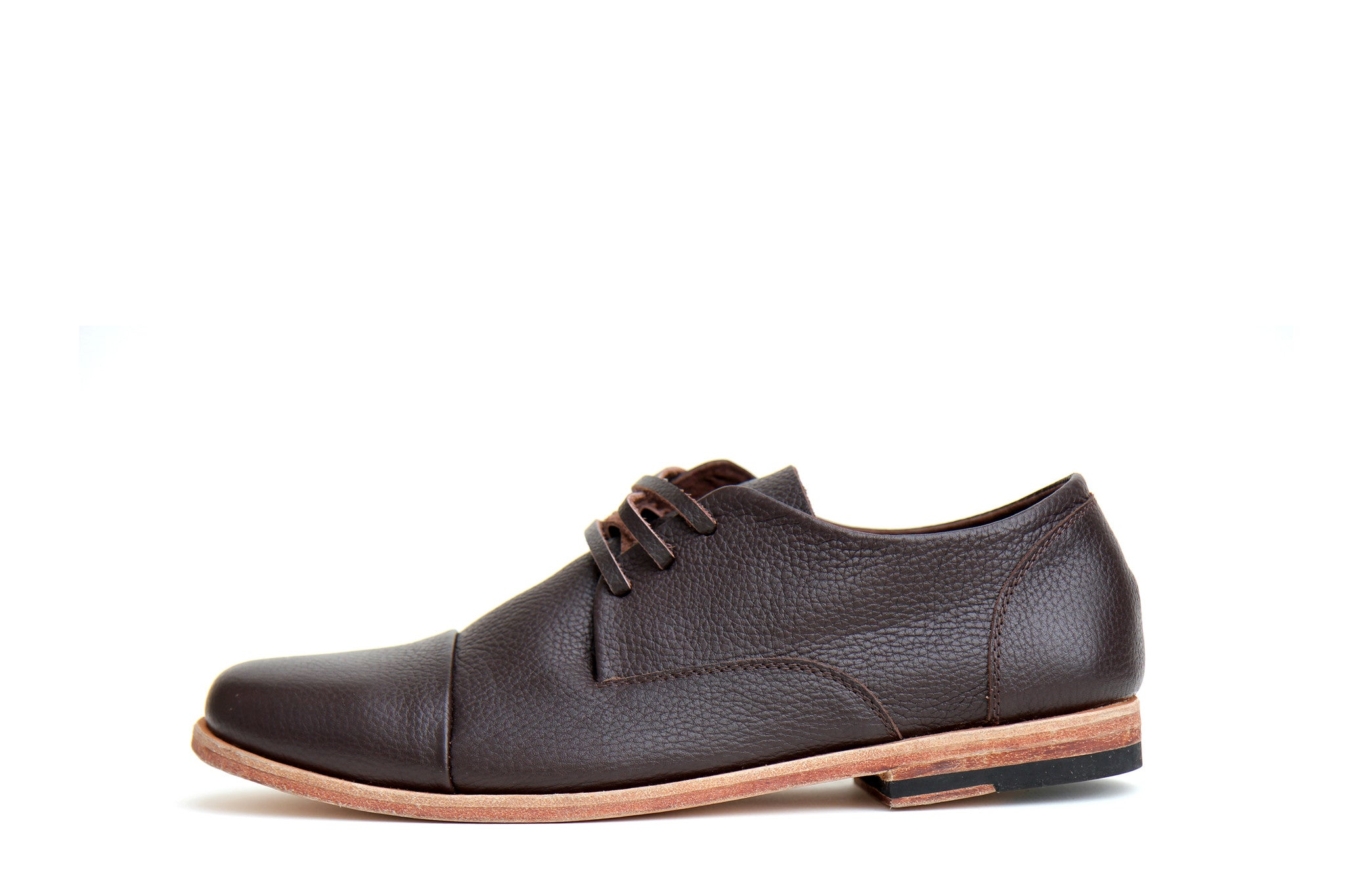 Men's Footwear: Heathen - Choc - Leather sole | Mere