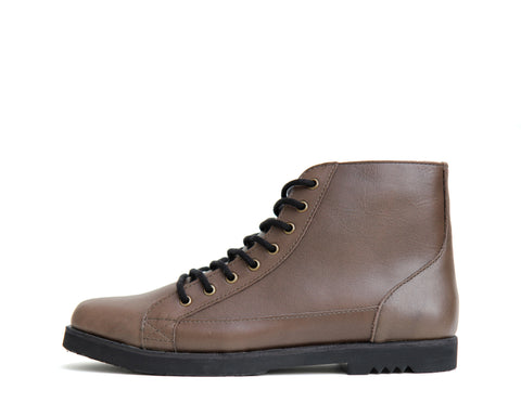 Johnny - Taupe - Rubber sole