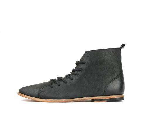 Sid - Black - Leather Sole