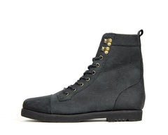 Womens Trooper High - Black - Rubber Heel