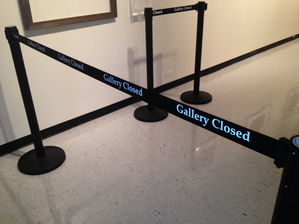 Gallery Closed Custom Printed Retractable Belt Stanchions