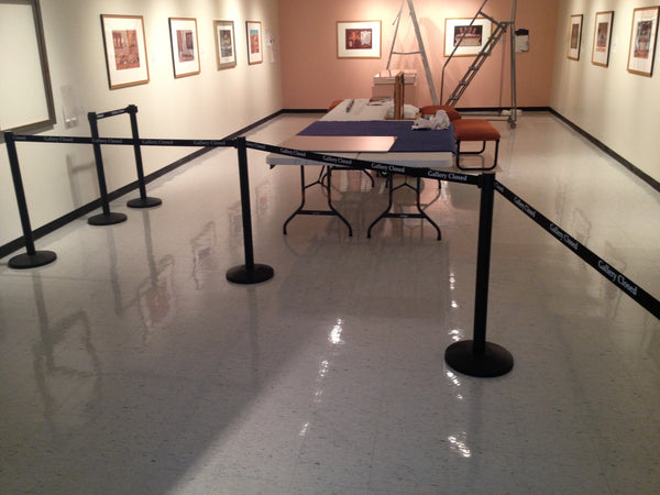 Full Gallery Closed Museum Exhibit Posts Custom Printed