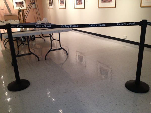Pro Grade Economy Printed Belt Posts for Museum Galleries