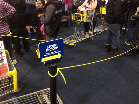 Best Buy Black Friday Stanchion Sign