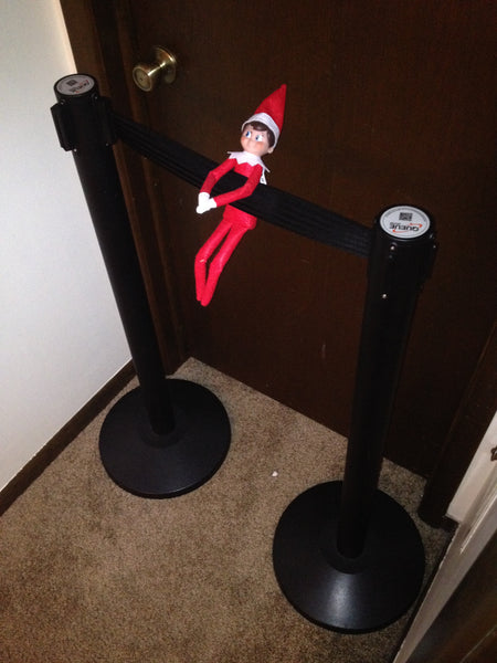 Elf on the Retractable Belt Stanchions