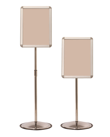 Adjustable Height Telescoping Sign Stand