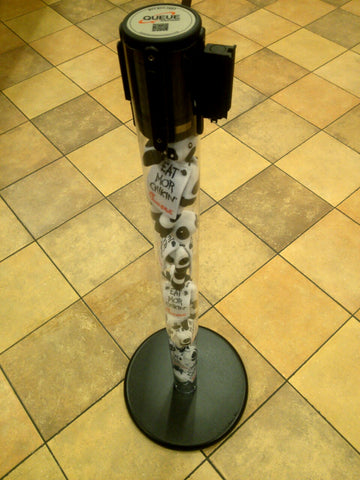 Chic-fil-A Cow Filled Clear Post Stanchion