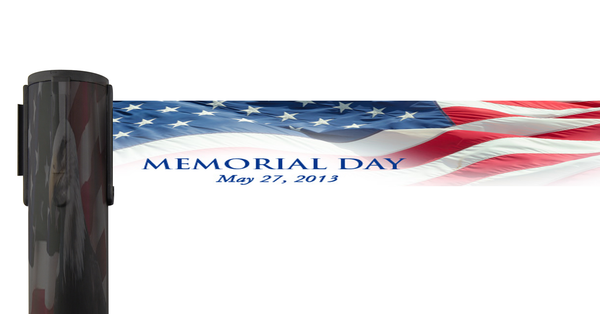 Custom Printed Memorial Day 2013 Retractable Belt