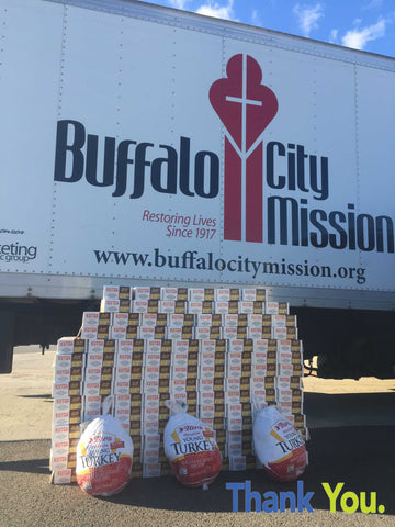 Pro Stanchions Thanksgiving 2015 Kutoa Health Bar Buffalo City Mission Donation