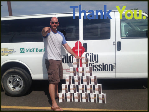 Pro Stanchions Pro Charities Kutoa Bar Donation Buffalo City Mission June 2014