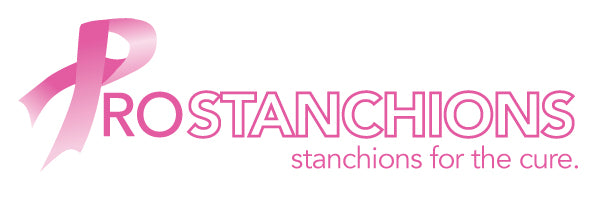 Pro Stanchions For The Cure 100% Non-Profit All Pink Belt Barriers