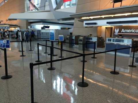 Buffalo Niagara International Airport Stanchion Concourse