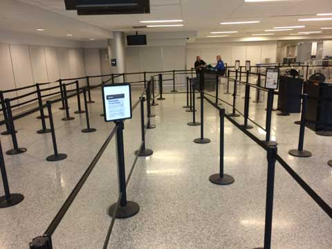 Buffalo International Airport Stanchion TSA