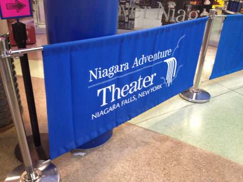 Niagara Adventure Theater Stanchion Banner