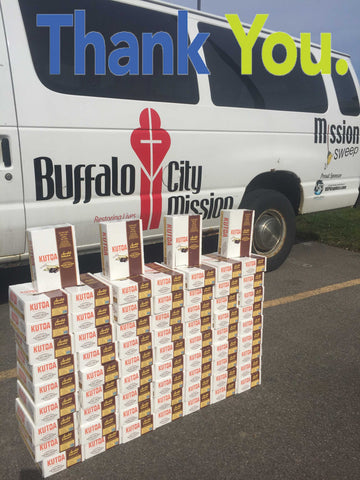 804 Kutoa Health Bar Donation Buffalo City Mission April 2016