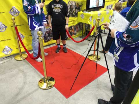 Red Carpet Interview Stanchions And Rope Hockey Expo