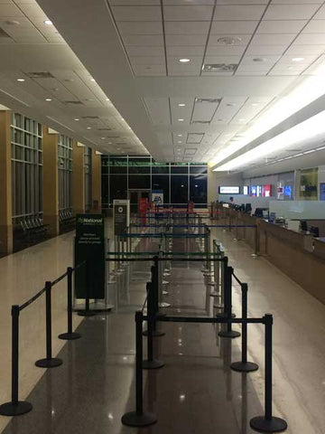 Minneapolis St Paul Airport Rental Car Stanchions