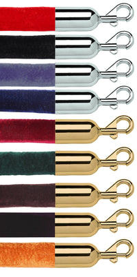"Collection - Premium Heavy Duty Velour Post Rope - 1.5"" Diameter Bound Cotton Core"