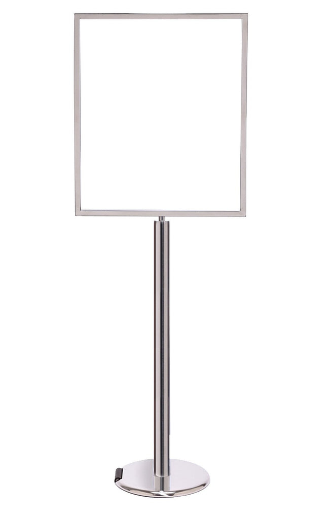 Heavy-Duty Pedestal Sign Stand - Vertical Display | Queue Solutions