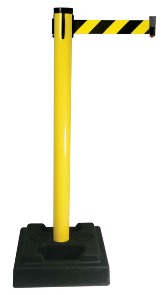 Retracta Belt PVC Oudoor Crowd Control 10 Foot Belt Stanchion Utility Safety Post Yellow