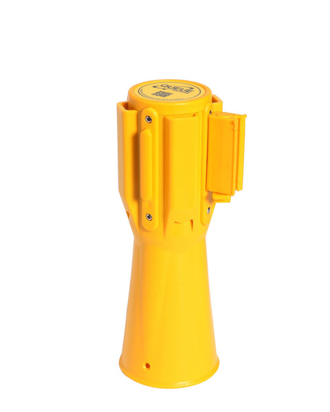 ConePro500 Yellow & Reflective Cone Mount Retractable 10' Belt Barrier