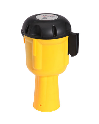 ConePro 600 20 Foot Cone Mount Retractable Belt Barrier Yellow And Reflective