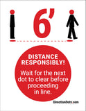 Direction Dots Sign Insert - Responsible Social Distancing | Visiontron