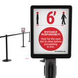 Direction Dots Sign Insert, Responsible Social Distancing, Pro Stanchions DDS811-01