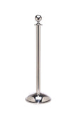 Polished Stainless Steel Dome Base Elegance Ball Top Premium Post and Rope Stanchion