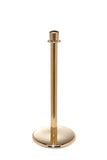 Polished Brass Flat Base Elegance Crown Top Premium Post and Rope Stanchion
