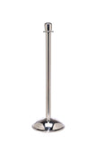 Polished Stainless Steel Dome Base - Elegance Crown Top Premium Post and Rope Stanchion