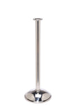Polished Stainless Steel Dome Base Elegance Flat Top Premium Post and Rope Stanchion
