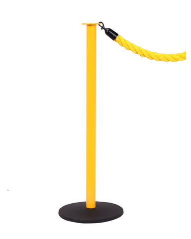 Yellow Professional Rope Posts - Elegance Safety Pole | Queue Solutions