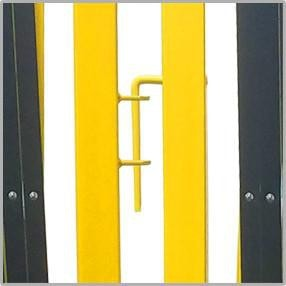 FlexPro Portable Expanding Steel Aluminum Barricade Yellow/Black Attached
