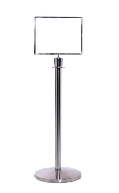 Heavy Duty Horizontal Sign Frame Topper For Rope Post Stanchions Queuesolutions Sfr711hb