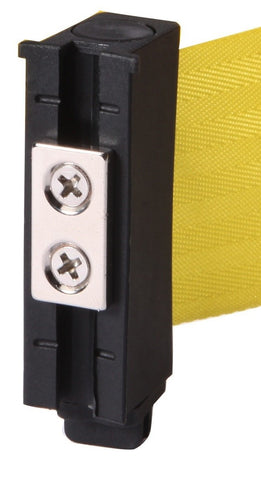 Magnetic Belt End WallPro 450 Black Yellow 30 Foot Retractable Wall Mount Access Control Belt Barrier
