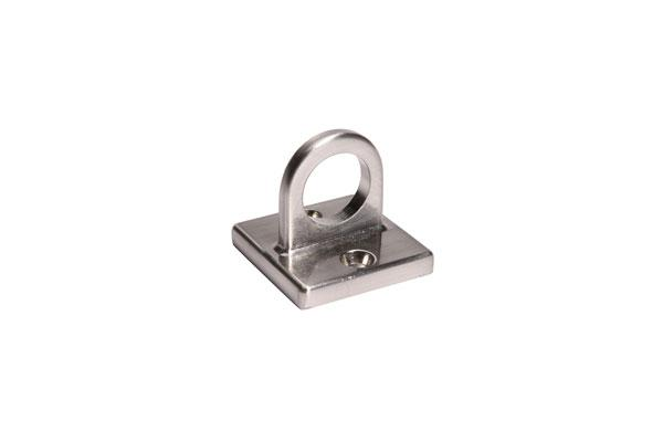Wall Plate Loop for Velvet Stanchion Rope - Pewter Nickel