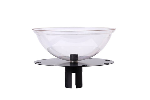 Merchandising Wheel and Display Bowl for Retractable Belt Stanchions