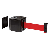 Retracta-Belt Magnetic Wall Mount Barrier 15' - Black